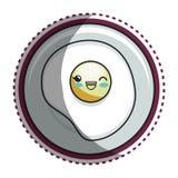 Eye fried cartoon character Stock Image