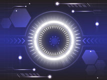 Eye of future technology abstract background. Eye of technology future abstract background royalty free illustration