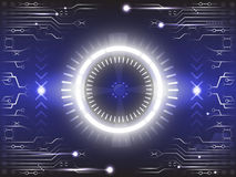 Eye of future technology abstract background Royalty Free Stock Photography