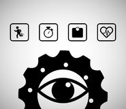 Eye gear sport healthy icons. Illustration eps 10 Royalty Free Stock Photography