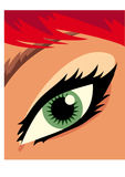 Eye of a girl. Eye of a red hair girl Royalty Free Stock Image