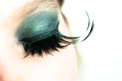 Eye of a girl with extreme makeup Royalty Free Stock Photo