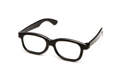 Eye Glasses. This image is of a pair of thick rimmed glasses against a white background Royalty Free Stock Photos