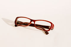 Eye glasses. Red eye glasses isolated on white background stock images