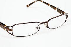 Eye glasses. Isolated eye glasses on white background royalty free stock images