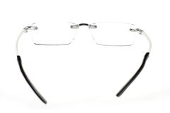Eye glasses. Spectacles or eye glasses isolated on white Royalty Free Stock Photography