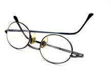 Eye glasses. On a white background Royalty Free Stock Photo