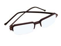 Eye glasses. Transparent eye glasses royalty free stock photo