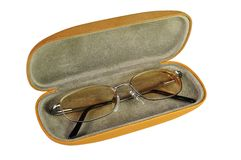 Eye Glasses. In a Case Stock Images