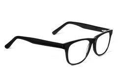 Eye Glasses. Black Eye Glasses Isolated on White stock images