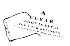 Eye Glasses for Business Success Royalty Free Stock Images