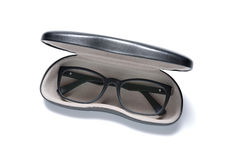 Eye glasses in a case Royalty Free Stock Photo