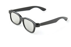 Eye glasses (3D cinema glasses) Stock Image