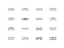 Eye glasses icons Stock Images