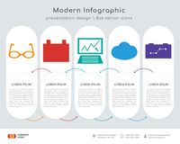 Eye glasses infographics design. Infographics design  and Eye glasses, Id card, Analytics, Cloud computing, Strategy icons can be used for workflow layout Stock Photos