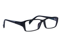 Eye glasses isolated on white. Background clipping path royalty free stock photography