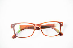 Eye glasses isolated. On a white background royalty free stock image