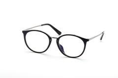 Eye glasses isolated on white background. Eye glasses with black frame isolated on white background royalty free stock photo