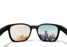 Free Eye Glasses Looking To City View, Focused On Glasses Lens Stock Photo - 79227210