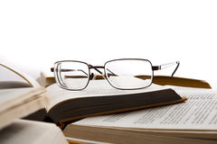 Eye Glasses On The Books Royalty Free Stock Photo