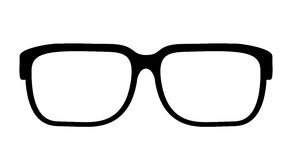 Eye glasses vector icon. On white background Royalty Free Stock Images