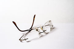 Eye glasses on a white background. Eye-wear isolated on a white background stock photos