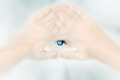 Eye of God. Christian symbol of God; watching and protecting Stock Images