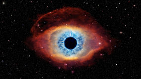 Eye of God in nebula Helix. Pictures was based on photo nebula Helix from official NASA site, photographed by Hubble telescope. Was retouched and changed to Stock Image
