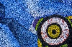 Eye graffiti royalty free stock images