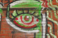 Eye Graffiti Royalty Free Stock Photos