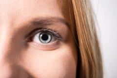 Eye with gray iris Stock Photo