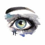 Eye on grunge background Stock Photography