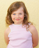 Eye, hair, girl, kid. Stock Image