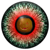 Eye Halloween ghosts. Looking into the eye of fear. Invitation to a Halloween party. Tradition of celebrating Halloween royalty free illustration