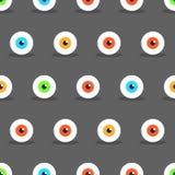 Eye Halloween pattern Royalty Free Stock Photography