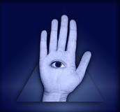 Eye in Hand Royalty Free Stock Photography