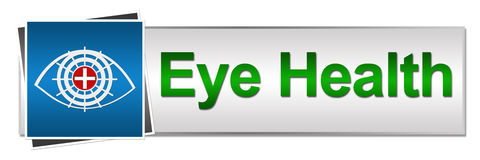 Eye Health Button Style Royalty Free Stock Image