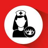 Eye healthy care hospital building icon Stock Photo