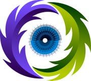 Eye herbal medicine logo Stock Image