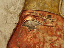 Eye of hieroglyph man. Eye of hieroglyph on wall royalty free stock photography