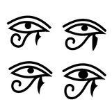 Eye of Horus. Set of eye of Horus - traditional Egyptian symbols Royalty Free Stock Image