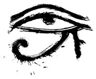 Eye of Horus. Egyptians religion symbol created in grunge style Stock Photos