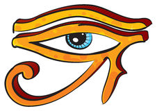Eye of Horus. Egyptians religion symbol created in graffiti style Royalty Free Stock Photos