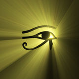 Eye of Horus Egyptian sign light flare stock illustration