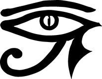 Eye of Horus Egyptian symbol. Eye of Horus (wadjet or Eye of Ra), used in ancient Egypt as a symbol of healing and protection stock illustration