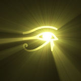 Eye of Horus Egyptian symbol light flare Stock Photography