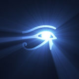 Eye of Horus Egyptian symbol light flare royalty free illustration
