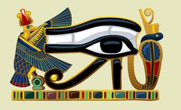Eye of Horus  graphics Royalty Free Stock Image