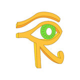 Eye of Horus icon in cartoon style Stock Photography