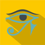 Eye of Horus icon, flat style Royalty Free Stock Photo